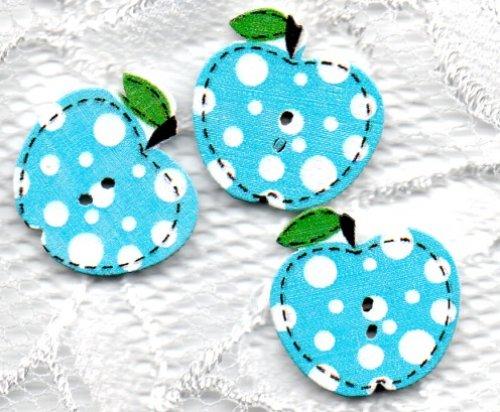 Kinderknopf- Äpfel - 7012